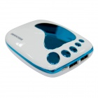 BOCHANG AKMB039 Foot Style 9000mAh Mobile Power Source for iPhone / Samsung + More - White + Blue