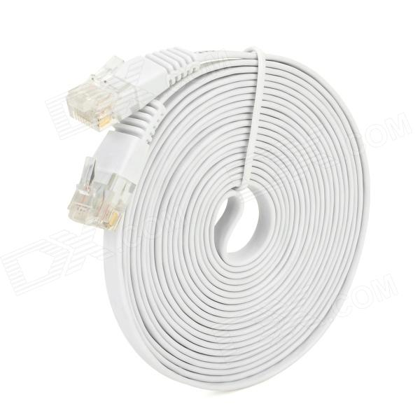 Piso RJ45 macho a macho Cable de red - blanco (310cm)
