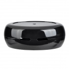 Oval Shaped ABS + EVA Cable / Power Adapter Management Box - Black
