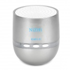 Cylinder Shaped Bluetooth V2.1 Speaker - Silver + White