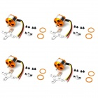 A2208 1000KV motor sin escobillas - Golden + Silver (4 PCS)