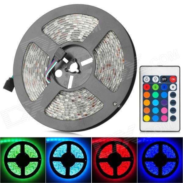 ADT-SMD5050-G-300RGB 24W 250lm 300-SMD 5050 LED RGB Decoration Light Strip w/ Controller (110~240V) decoration strip lamp 5m 300 x 5050 smd led 3000 lumens rgb highlight led string light with infrared controller and charger