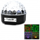 MXS-018BW RGB Stage Light w/ USB / TF MP3 + Remote Control - White + Black