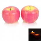 LAZU1 Apple Style Paraffin Aromatherapy Candle - Red + Yellow