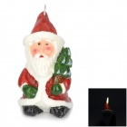 Cute Santa Clause Style Paraffin Candle - Red + White