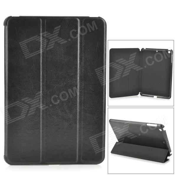 3-Fold Glazed Protective PU Leather Case Cover w/ Stand for Retina Ipad MINI - Black чехол для iphone 5 mitya veselkov влюбленный робот
