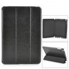 3-Fold Glazed Protective PU Leather Case Cover w/ Stand for Retina Ipad MINI - Black