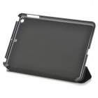 3-Fold Protective PU Leather Case Cover w/ Stand for Ipad Mini - Black