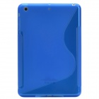 S Style Matte Protective Silicone Back Case for Retina Ipad MINI - Translucent Blue