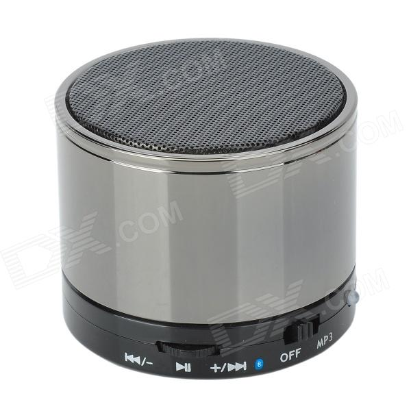 SK-S10 Universal Mini Portable Bluetooth V2.1 Speaker w/ TF / Microphone - Deep Grey + Black