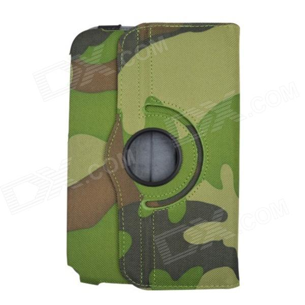Rotation Camouflage Cases for Samsung N5110 N5100 Galaxy NOTE 8.0 - Camouflage Green fashion painted flip pu leather for samsung galaxy note 8 0 n5100 n5110 8 0 inch tablet smart case cover pen film