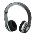 BT802 Bluetooth V2.1 A2DP Stereo Bass Headset w/ TF MP3 / FM / 3.5mm Jack Wire - Black + Silver