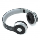 Bluetooth V2.1 A2DP Stereo Bass Headset med TF MP3 / FM / 3,5 mm Jack Wire - Black + sølv