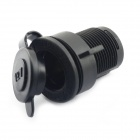 Jtron Car Cigarette Lighter Socket - Black (DC 12V / 20A)