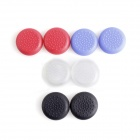 e-J YYX-02 Rocker Joystick Caps for PS4 - Black + Red + White + Light Purple (8 PCS)