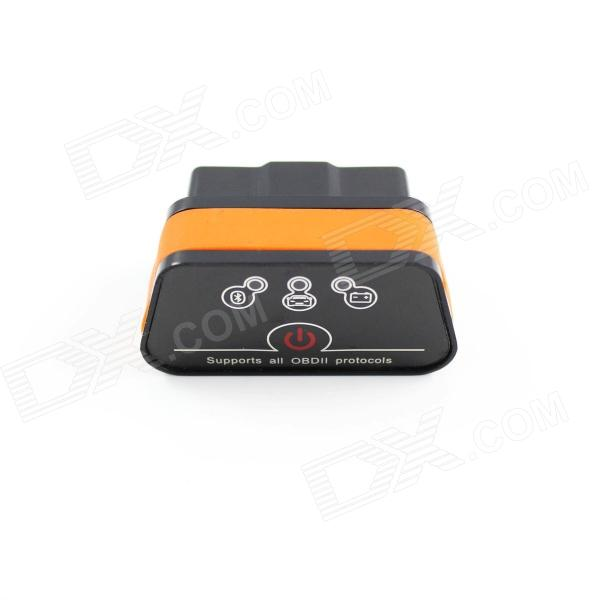 Super Mini iCar2 Vehicle Bluetooth OBD-II Code Diagnostic Tool / Clearer - Black + Orange differential diagnosis and diagnostic algorithm of infectious diseases in children the practical gu