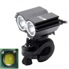 ZHISHUNJIA 360 Degree Rotating 2-LED 1600lm 4-Mode White Bicycle Headlight - Black