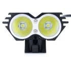 ZHISHUNJIA 360 Degree Rotating 2-LED 4-Mode White Bicycle Headlight