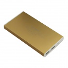 BOCHANG AKMB073 6600mAh Dual USB Output Mobile Power Charger for Iphone / Samsung + More - Gold