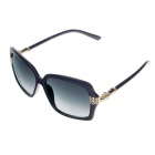 HB-004 Stylish Plastic Frame Resin Lens UV 400 Protection Women's Sunglasses - Black