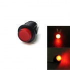 Jtron Car Button Switch with LED Red Light - Black + Red (12V)