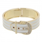 Contracted Fashionable Small Stones Zinc alloy Women's Bracelet - White + Golden