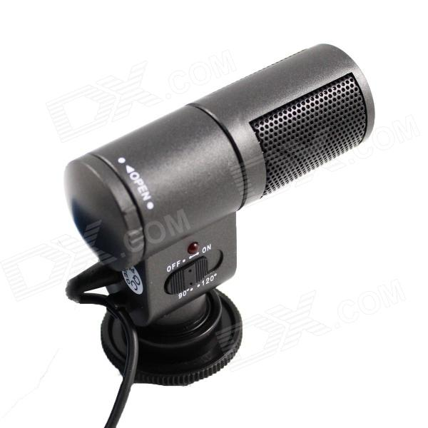 Professional Electret Condenser Stereo Microphone of DV  (DC 3V / 125mA / 1632 battery) professional stereo microphone for dv black grey 1 x cr2