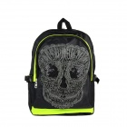Skull Pattern Personality Backpack - Black