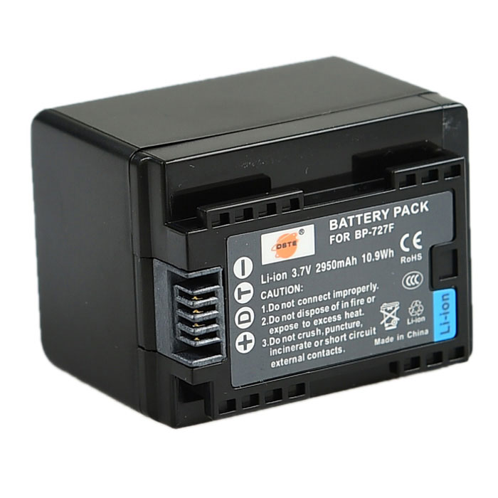 DSTE BP-727 Full-Decoded Battery li-ion for Canon HFM50 M52 M500 R30 R32 R300 R40 R42 R400 Camcorder bp 208 compatible 850mah battery pack for canon mvx1sidc10 dc20 more