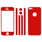 Elonbo Stylish Decorative Full Front Screen Protector + Back Skin Sticker Set for Iphone 5 - Red