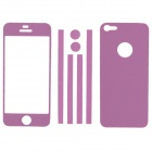 Elonbo Stylish Decorative Full Front Screen Protector + Back Skin Sticker Set for Iphone 5 - Violet