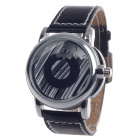 Unique Automatic Mechanical Smart Men's Wrist Watch - Black + Silver