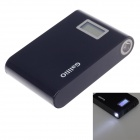 Galilio Y029 12000mAh Dual-USB Smart Power Source Bank w/ Working / Capacity LED Display - Black