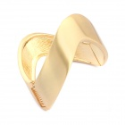 Euramerican Exaggerated Metallic Irregular Ringent Bangle-Golden