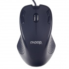 Raoopt R-3188 USB 2.0 Wired 1200DPI Optical Mouse - Black (142cm-Cable)