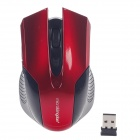 Microkingdom X-600 2.4GHz Wireless 1600DPI Optical Mouse - Black + Red (2 x AAA)