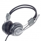 Raoopt RP-1522 Stereo Headphones w/ Microphone / Wired Control - Black + Silver + Titanium