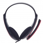 Raoopt RP-588 Stereo Headphones w/ Microphone - Red + Black (3.5mm Plug / 240cm-Cable)