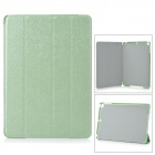 4-Fold Protective PU Leather + Plastic Case Cover Stand w/ Auto Sleep for Ipad AIR - Green