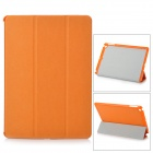 4-Fold Protective PU Leather + Plastic Case Cover Stand w/ Auto Sleep for Ipad AIR - Orange