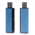 Super HI-Speed Portable USB 3.0 Micro SD / TF / SD / MS / M2 Card Reader - Blue (Max. 64GB)