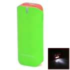 BP 5600mAh Mobile Power Source Bank w/ Stroboscopic LED for Iphone Samsung - Fluorescent Green +Red