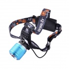 BORUiT RJ-2800 CREE XM-L T6 3-Mode 500LM Retractable Zooming Headlamp - Blue + Silver (1/2x18650)