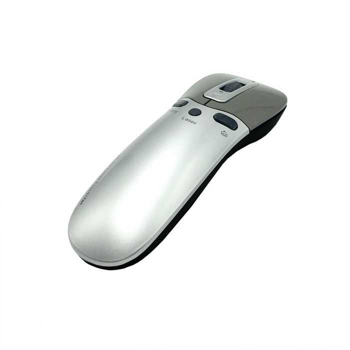 PR-05 2.4GHz Air Mouse + Laser Presenter w/ USB Receiver for Android TV Box / PC - Silver (2 x AAA)