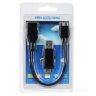 CY U3-152-BK Micro USB 3.0 OTG Host Cable w/Adapter for Samsung Note 3