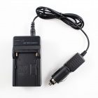 Car / AC Digital Camera Travel Battery Charger for Sony FM50 / 70 / 90 / QM71D / 91D - Black