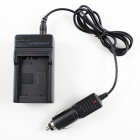 Car / AC Digital Camera Travel Battery Charger for Sony FW50 - Black