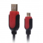 KS-U505 Double-Protection USB 2.0 Data Sync / Charge Cable for Samsung / HTC - Red + Black (150cm)