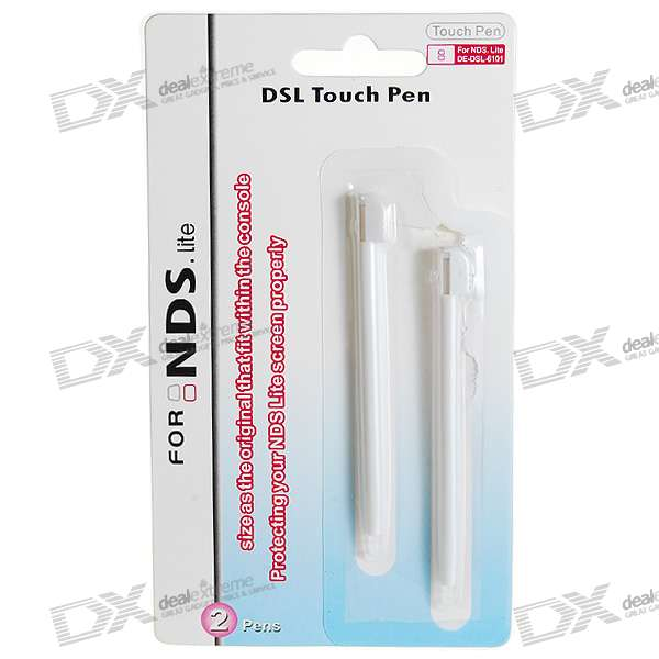 White Replacement Stylus for NDS Lite (2-Pack) protective silicone case for nds lite translucent white