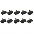 Jtron 3-Pin Micro Switch / Tact Switch - Black (5A 250V / 10 PCS)